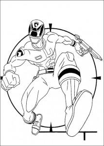 kleurplaat Power Rangers (21)