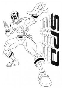kleurplaat Power Rangers (22)