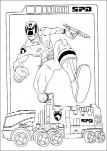 kleurplaat Power Rangers (25)