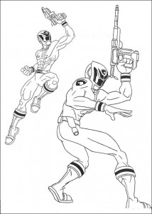 kleurplaat Power Rangers (3)