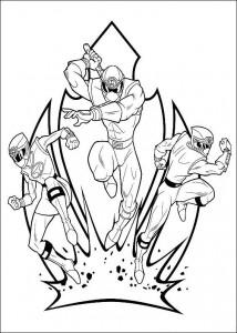 kleurplaat Power Rangers (39)