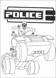 kleurplaat Power Rangers (4)