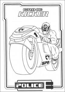 kleurplaat Power Rangers (78)
