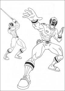 kleurplaat Power Rangers (81)