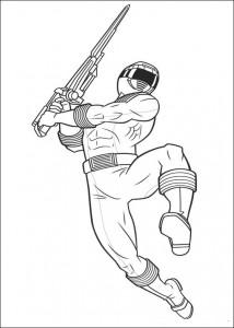 kleurplaat Power Rangers (88)