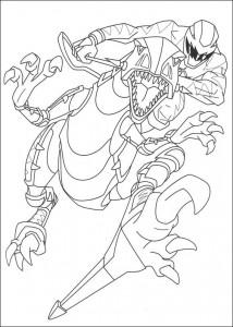 kleurplaat Power Rangers (99)