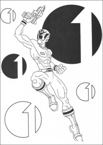 målarbok Power Rangers