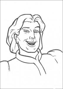 kleurplaat Prins Charming