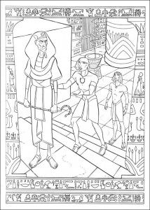 coloring page Prince of Egypt (1)