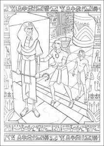 kleurplaat Prins van Egypte (1)
