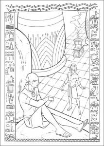 kleurplaat Prins van Egypte (2)
