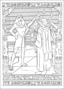 kleurplaat Prins van Egypte (22)