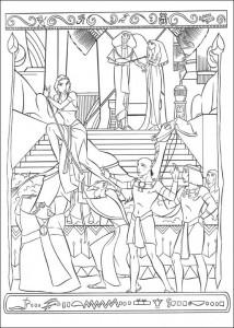 kleurplaat Prins van Egypte (4)