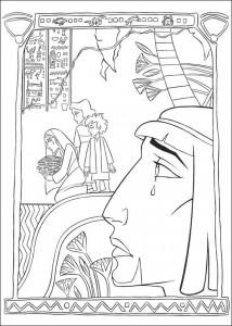 kleurplaat Prins van Egypte (7)