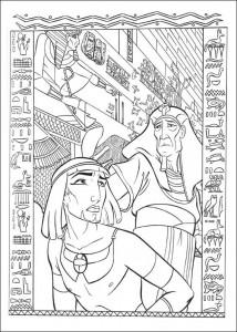 kleurplaat Prins van Egypte (8)