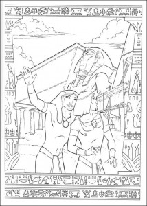 kleurplaat Prins van Egypte (9)