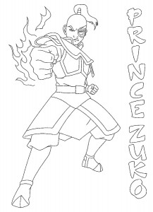 coloring page Prince Zuko (1)