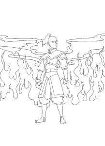 coloring page Prince Zuko (4)