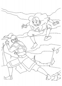 coloring page Prince Zuko and Aang