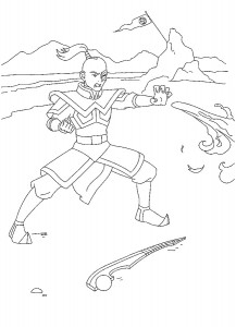 coloring page Prince Zuko