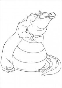 coloring page Princess and the frog (1)