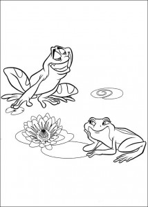 coloring page Princess and the frog (10)