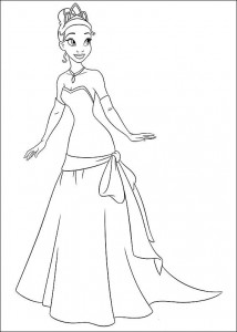 pagina da colorare Principessa e la rana (12)