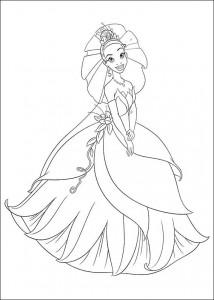 pagina da colorare Principessa e la rana (13)