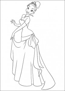 coloring page Princess and the frog (14)