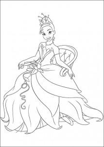 pagina da colorare Principessa e la rana (15)