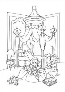 kleurplaat Prinses en de kikker (16)