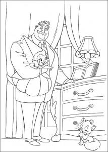 pagina da colorare Principessa e la rana (17)