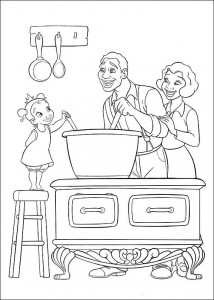 coloring page Princess and the frog (19)