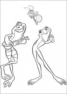 pagina da colorare Principessa e la rana (2)