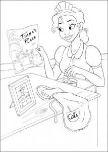 pagina da colorare Principessa e la rana (21)