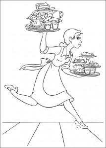 pagina da colorare Principessa e la rana (22)