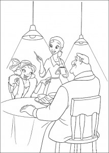 coloring page Princess and the frog (23)