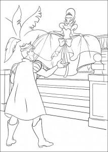 pagina da colorare Principessa e la rana (24)
