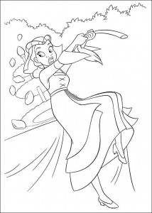 coloring page Princess and the frog (26)