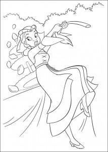 pagina da colorare Principessa e la rana (26)