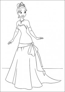 pagina da colorare Principessa e la rana (27)