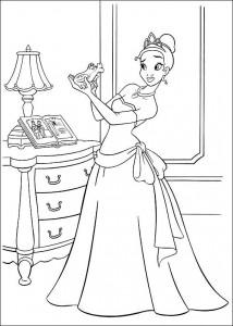 pagina da colorare Principessa e la rana (30)