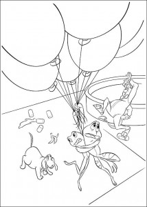 pagina da colorare Principessa e la rana (31)