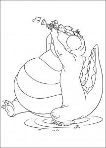pagina da colorare Principessa e la rana (36)