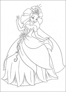 coloring page Princess and the frog (4)