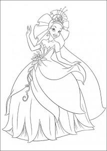 pagina da colorare Principessa e la rana (4)