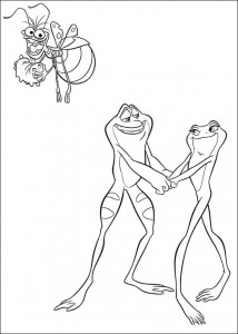 coloring page Princess and the frog (5)