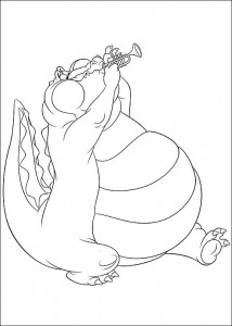 coloring page Princess and the frog (6)