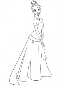 coloring page Princess and the frog (8)