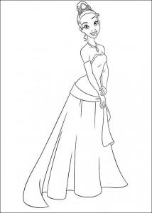 pagina da colorare Principessa e la rana (8)